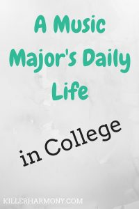 Killer Harmony   A Day in the Life of a Music Major   Being a music major is a busy job. It involves classes, lessons and ensembles. Click to read more.