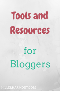Killer Harmony | To improve, we need to learn and to get help when needed. So, I made a list of my favorite resources for bloggers to help you become a better blogger.