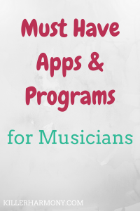 Killer Harmony | Apps for Musicians | As musicians, technology can really help us out. That's why I am always looking for cool music apps to help me get stuff done and be more productive.